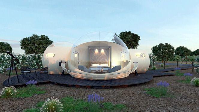 Alojarse en una esfera trasparente