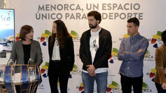 Sergio Llull, Gemma Triay y Albert Torres presentan Menorca como la isla del deporte