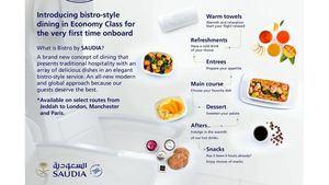 Saudia Airlines implementa en la capital española su nuevo servicio de catering a bordo