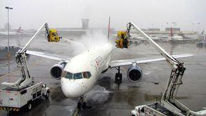 El proceso de deshielo en los aviones de Delta