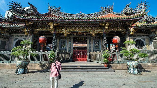 Boletos de viaje de la buena suerte en el metro del Templo Longshan en Taipéi