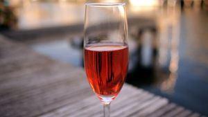Champagne rosado para San Valentín