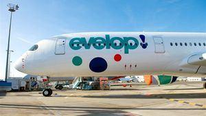El avión A350-900 de Evelop en su fase final