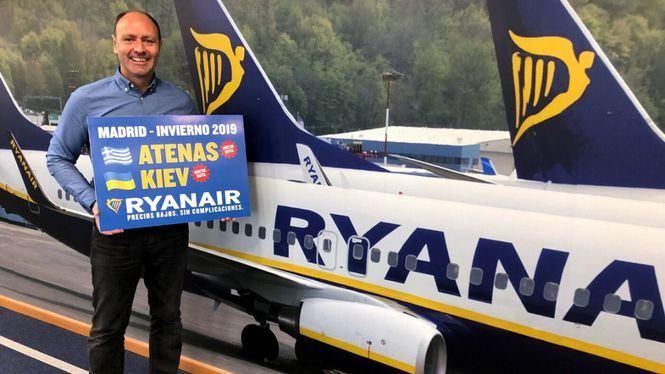 Ryanair anuncia su calendario de invierno 2019 para Madrid