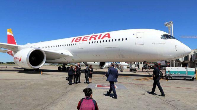 El Airbus A350-900 de Iberia llega a Argentina