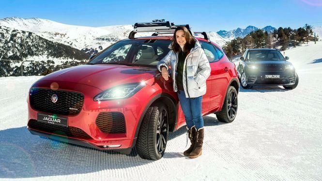Tamara Falcó pone a prueba su Jaguar E-Pace Diesel 4x4 en las pistas de Andorra