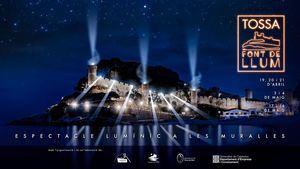 Tossa Font de Llum, un innovador espectáculo lumínico en las murallas