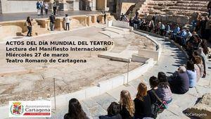Arrancan en el Teatro Romano los actos del Día Mundial del Teatro en Cartagena