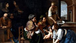 Fragmento de Nacimiento de san Juan Bautista Artemisia Gentleschi