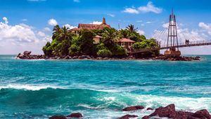 Templo de Buda en la Isla Matara (Sri Lanka)