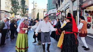 El Quijote toma la Gran Vía de Madrid