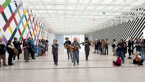 Show de Martin Creed AMIGOS en el Centro Botín. © Fundación Botín-Centro Botín. Arquitecto Renzo Piano, Santander 2018.