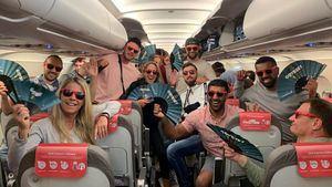 El primer vuelo de la temporada a Ibiza contó con una sesión de música electrónica