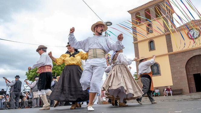 VI Festival Imoque desde la plaza de San Sebastián de Adeje