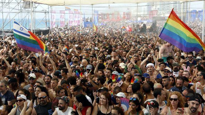 El desfile del Orgullo Gay más multitudinario de Oriente Medio en Tel Aviv