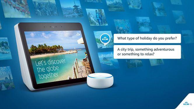 Nuevo servicio de KLM a través de Alexa de Amazon
