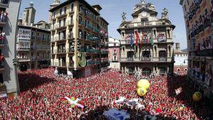 Bajan los hoteles en San Fermín, en Pamplona, con respecto a 2018