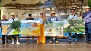 Nueva edición del concurso de pintura rápida durante la celebración de Los Baños de Ola