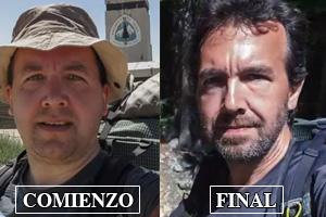El viaje de las 2660 millas, 2660 selfies y 25 kilos de peso perdidos