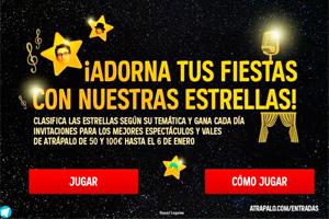 """Atrápalo celebra la Navidad lanzando el juego """"¡Adorna tus fiestas con nuestras estrellas!"""""""