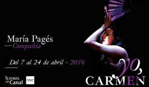 "Cartel espectáculo ""Yo, Carmen"""