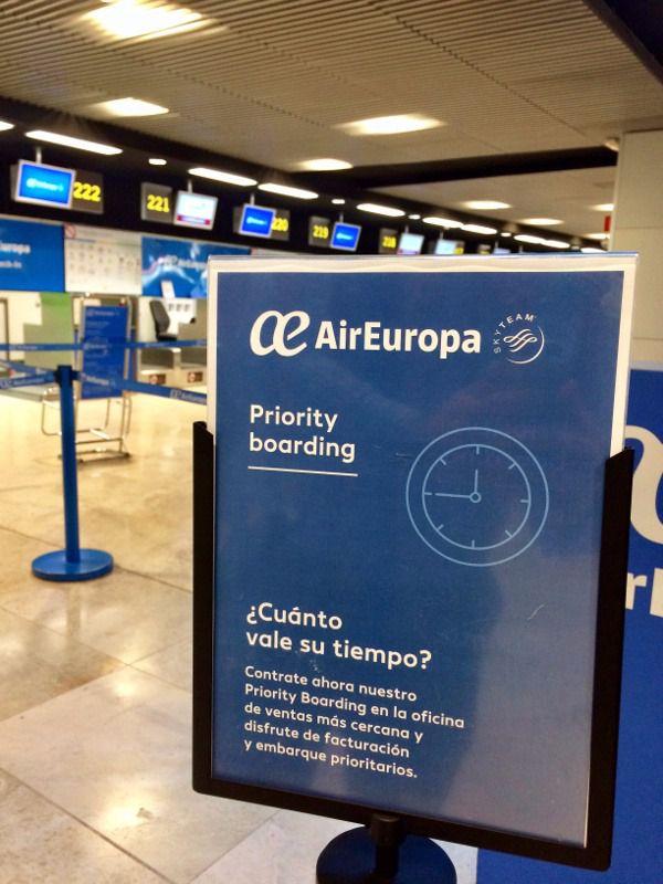 Air europa activa su servicio de facturaci n y embarque prioritarios inout viajes - Oficinas air europa madrid ...